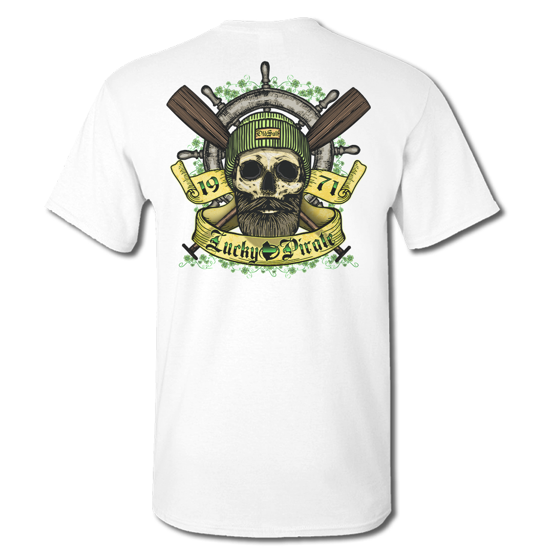 Lucky Pirate - Short Sleeve T-Shirt - White