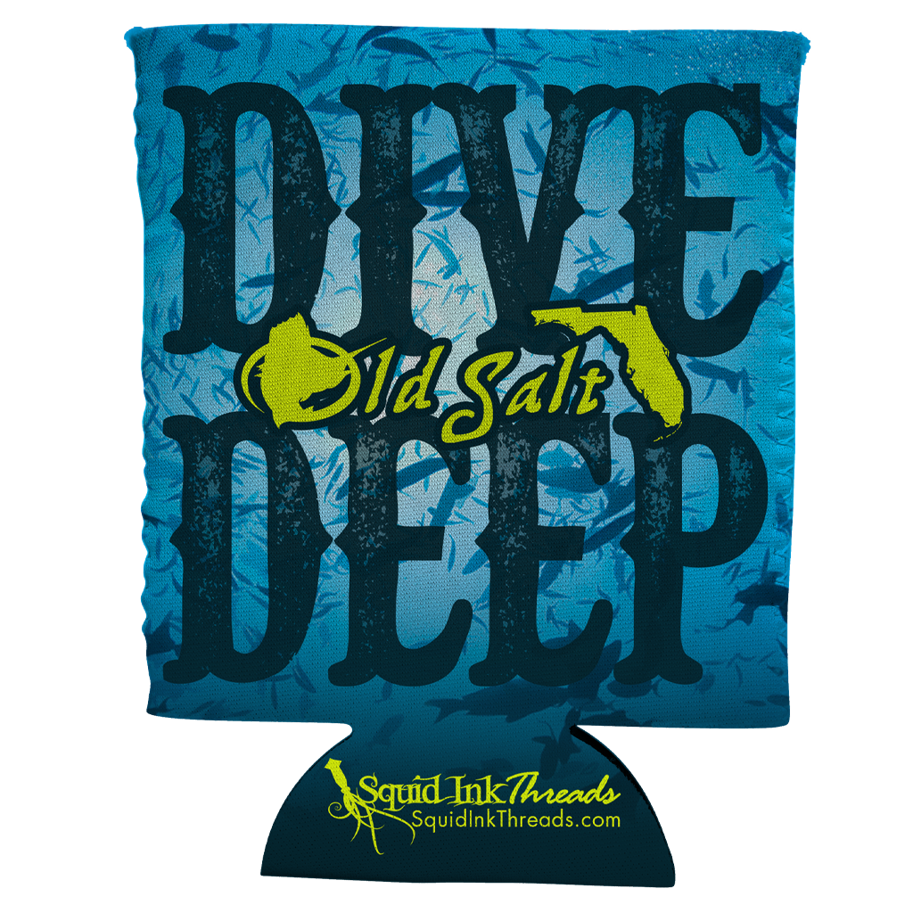 Dive Deep Can Koozie