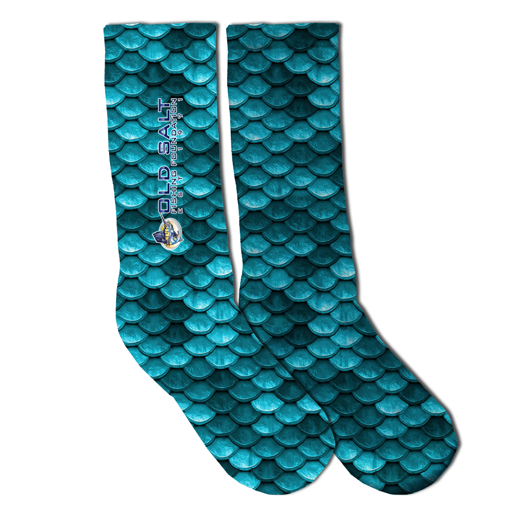 Mermaid Blue Socks