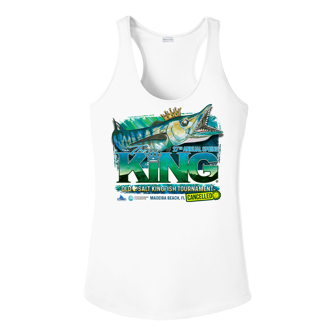 The KING - Spring 2020 (CANCELLED) Ladies Tank Top - Performance - Fishing Tournament T-Shirt