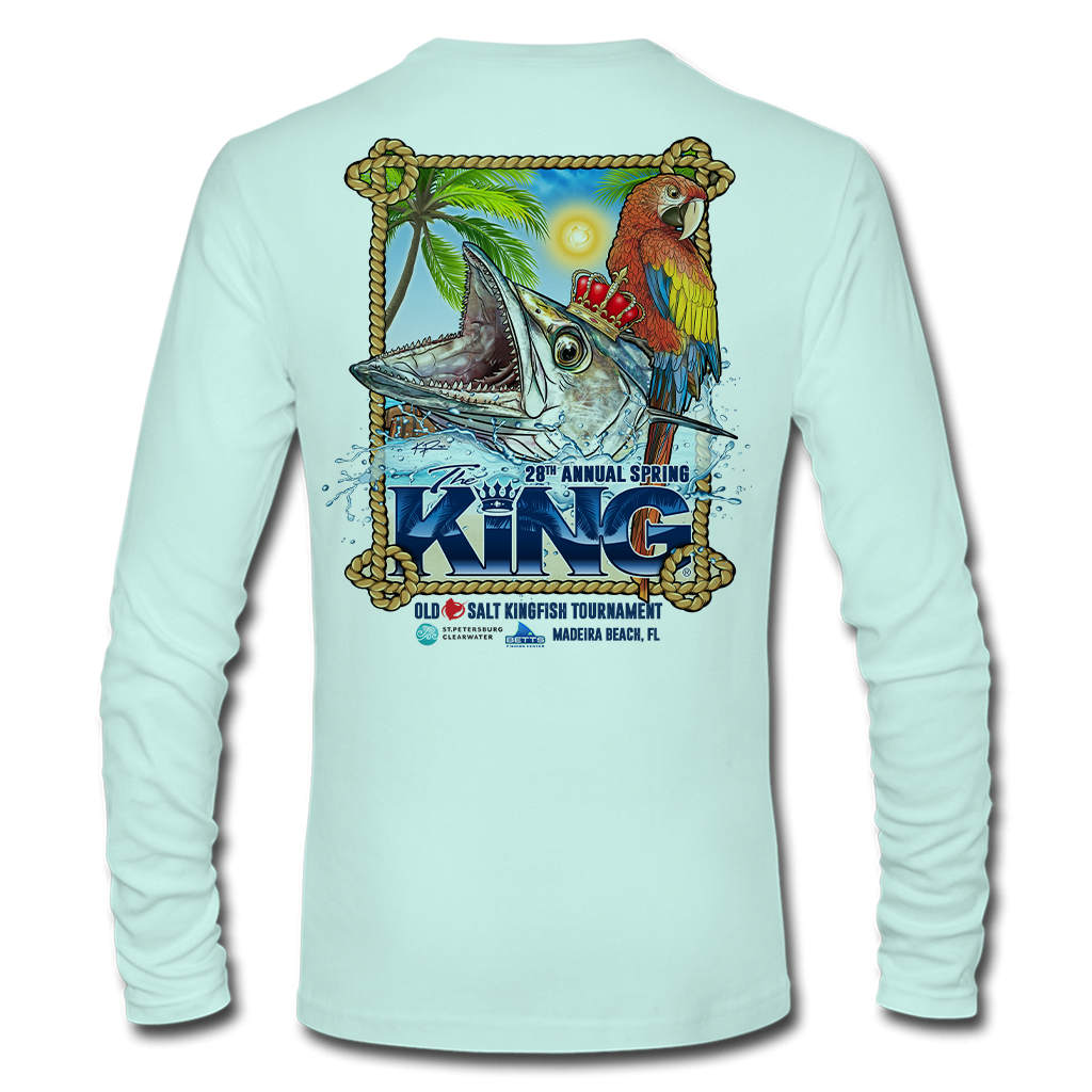 The KING - Spring 2021 - Men's Long Sleeve Performance Shirt - Seafoam Green