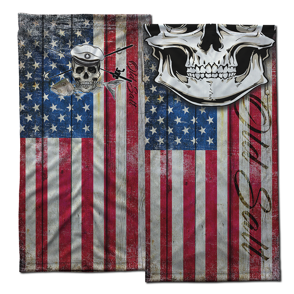 Skull Patriot Face Shield