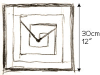 wall clock sketch size by paladim handmade