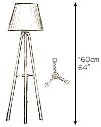 pergel floor lamp sketch size