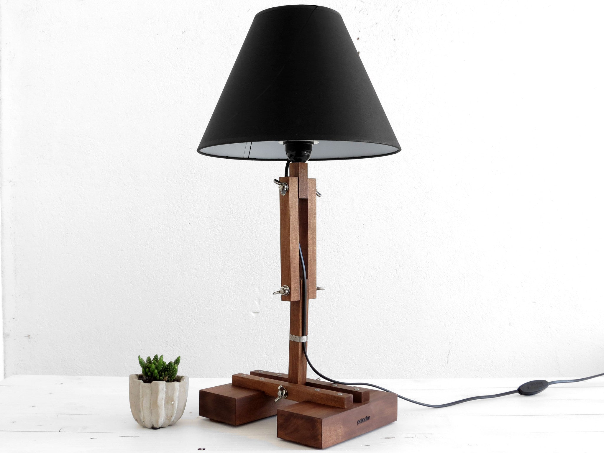 Big plat wooden table lamp paladim handmade big plat wooden table lamp paladim handmade geotapseo Choice Image