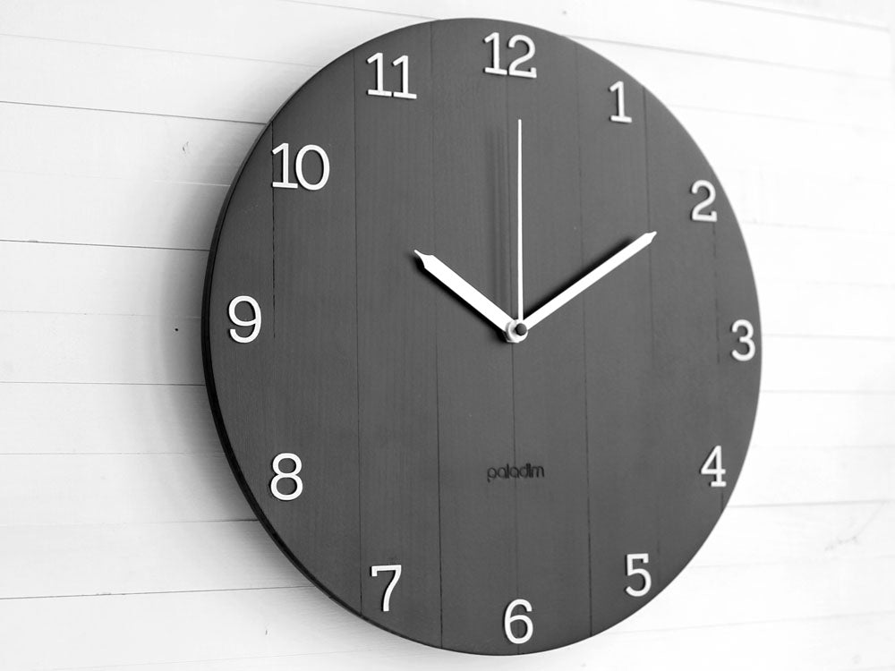 OVAL black wall clock