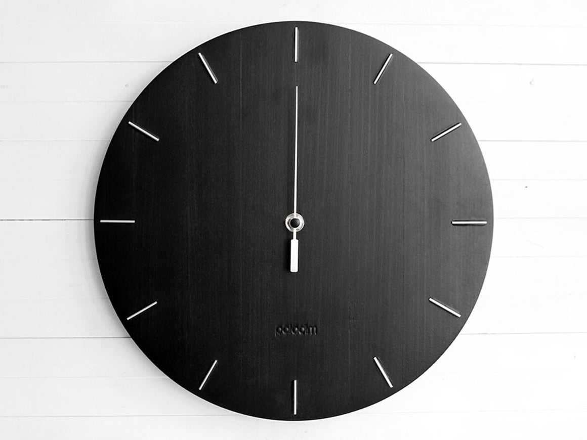 OVAL no hands wall clock