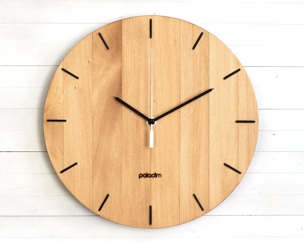 OVAL minimalist wall clock