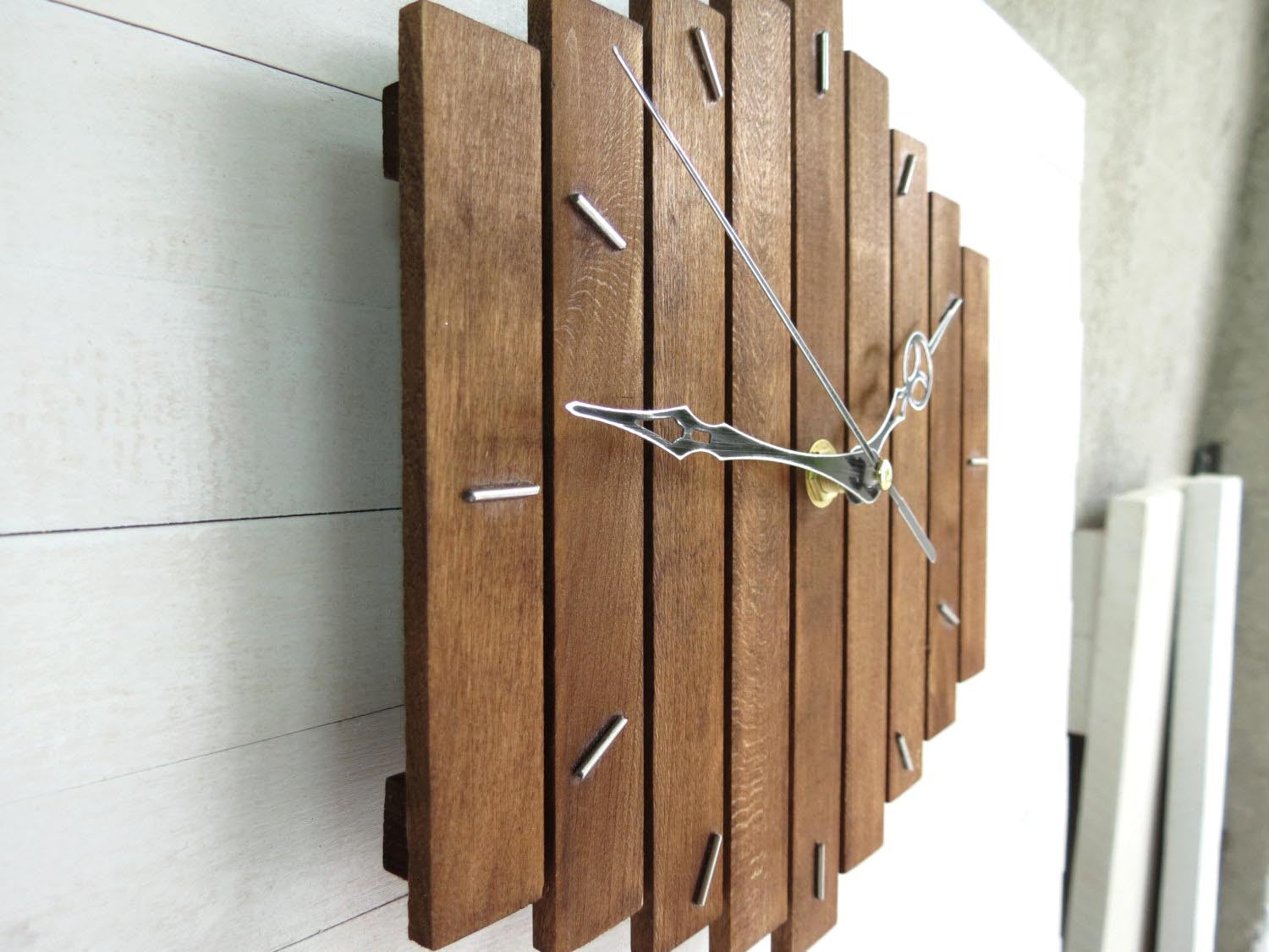 Romb silent wooden wall clock 20x20cm by paladim handmade romb i wall clock 20x20cm 8x8 paladim handmade amipublicfo Choice Image