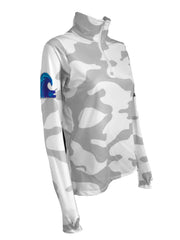 NEW - WAVE Quarter Zip - Light Gray Camo