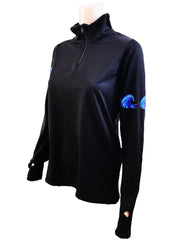 NEW - WAVE Quarter Zip - black