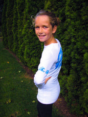 "GIRLS ""Wave"" Performance long sleeve - white"