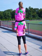 "GIRLS ""Shamrock"" performance long sleeve - hot pink"