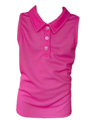 """Ellie"" Girls Sleeveless Performance Polo"