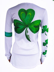 """Shamrock"" Performance long sleeve- White"
