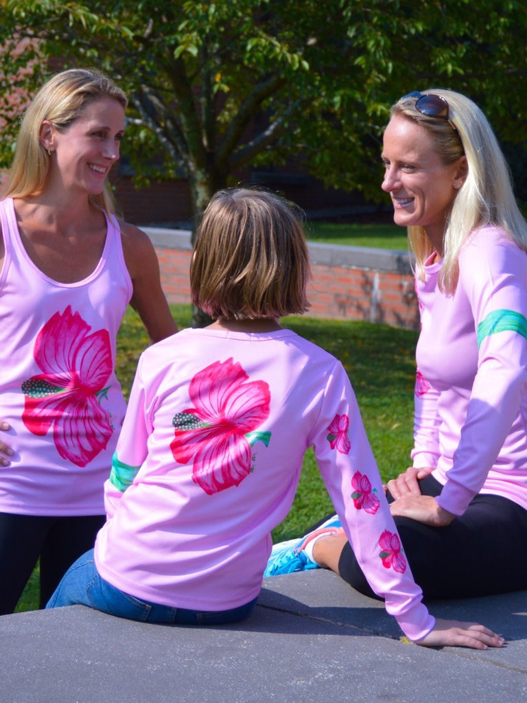 "Girls ""Hibiscus"" long sleeve performance"