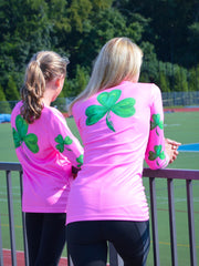 """Shamrock"" performance long sleeve - hot pink"