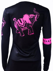 """Trunks Up"" performance long sleeve - black/hot pink"