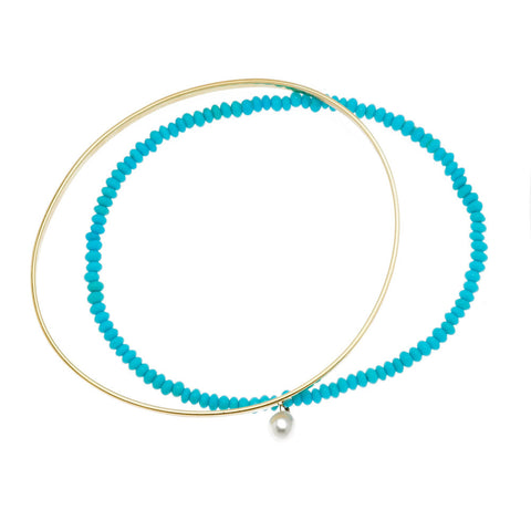 Beaded Turquoise Bangles