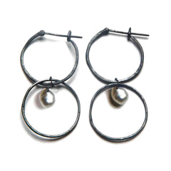 Oxidized Silver / White Tahitian Pearl