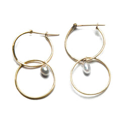 18K Yellow Gold / White Tahitian Pearl