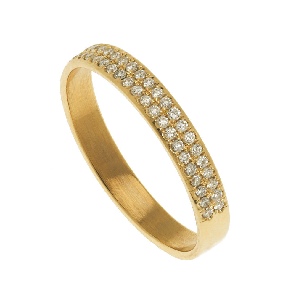 Diamond Pave Flat Ring