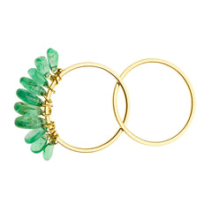 18K Yellow Gold / Emerald