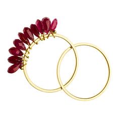 18K Yellow Gold / Ruby
