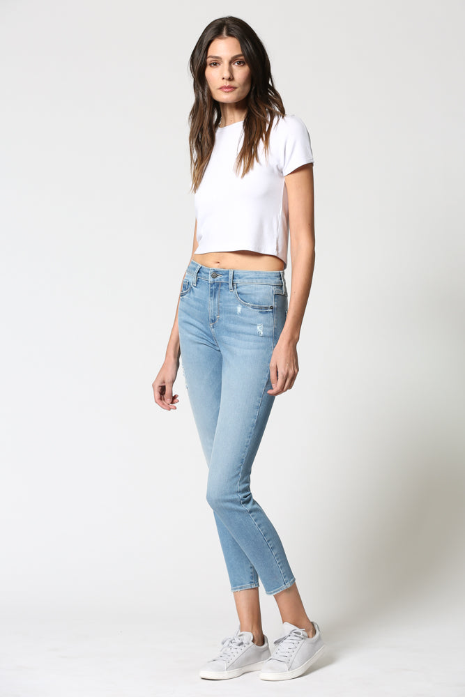 TAYLOR <p/> Light Wash High Rise Stretch Skinny