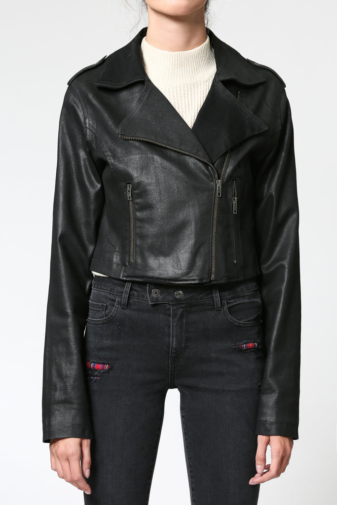 REBEL <p/> BLACK COATED JACKET