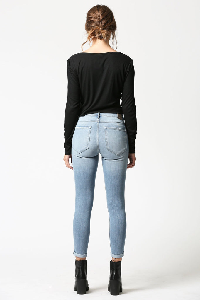 AMELIA <p/> Medium Wash Skinny with Rolled Cuffs