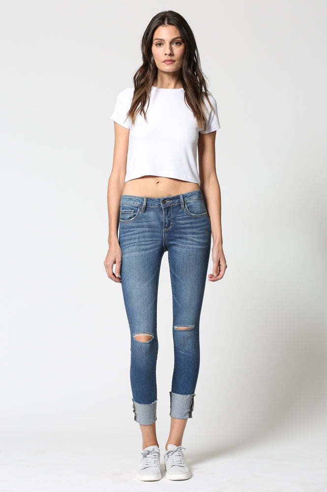 AMELIA <p/> Medium Cuffed Hem Skinny