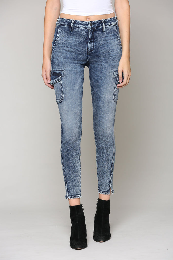 AMELIA <p/> CARGO POCKET STRETCH SKINNY
