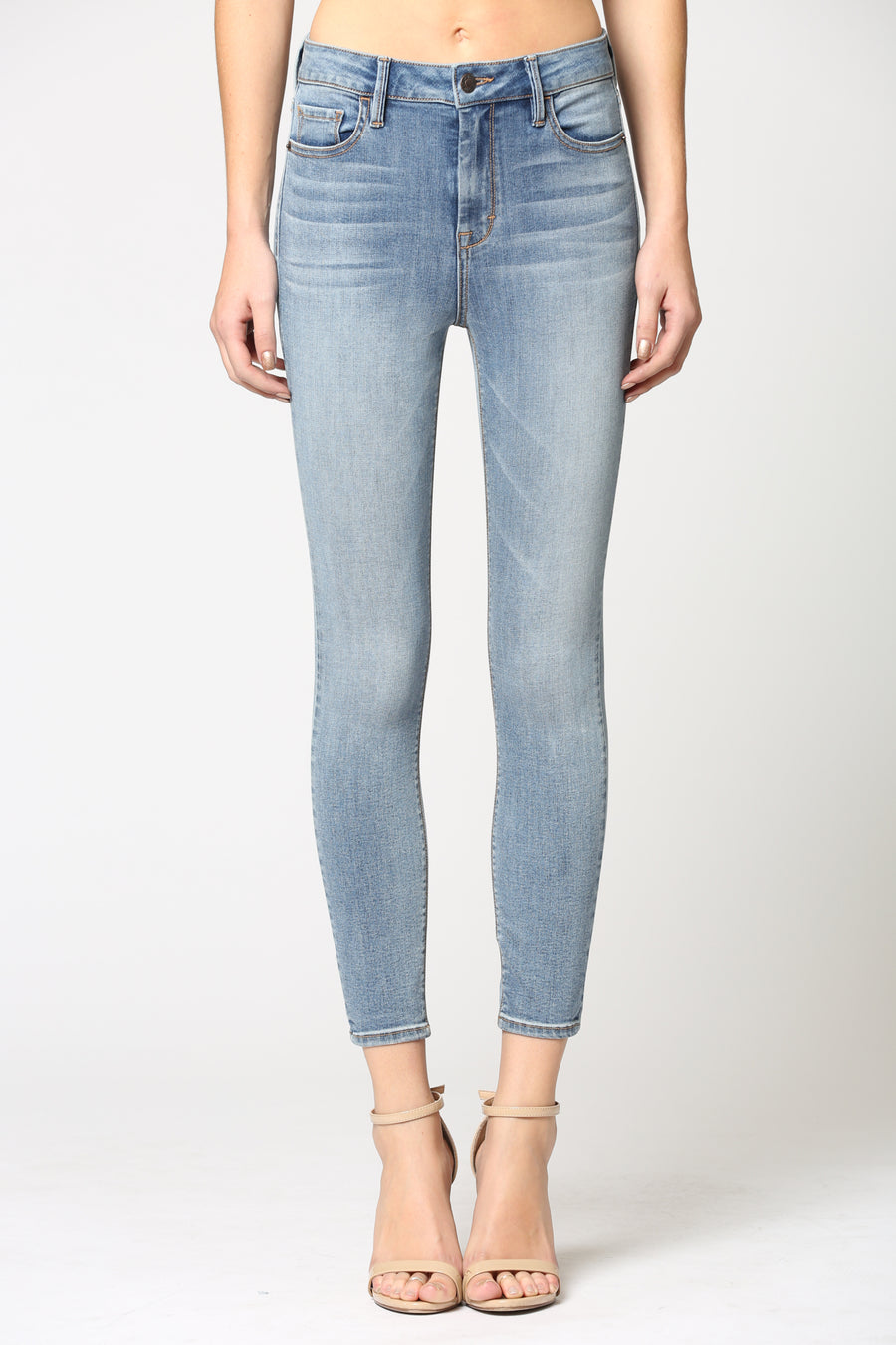 AMELIA <p/> LIGHT WASH STRETCH SKINNY