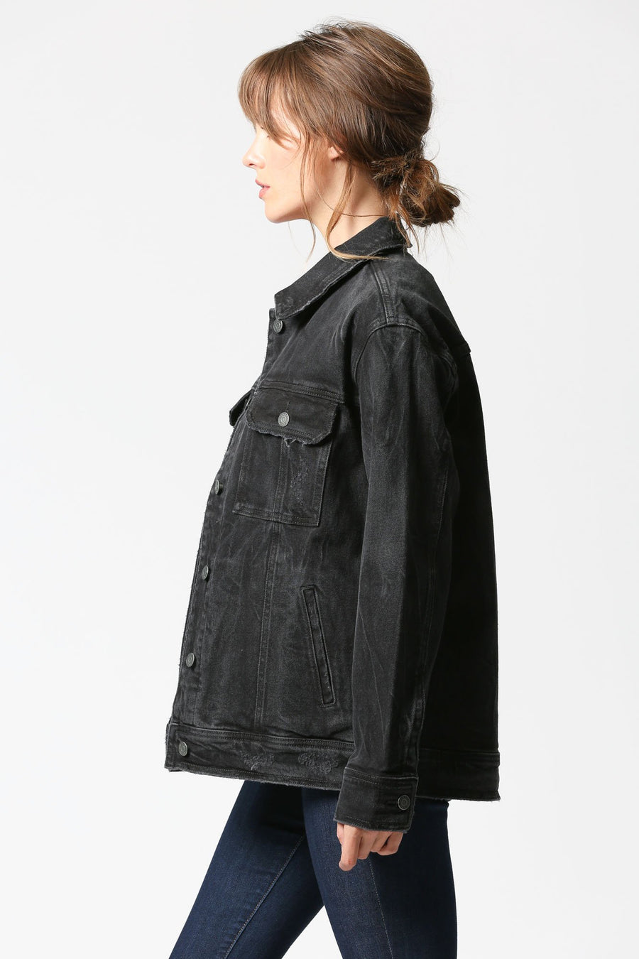 REBEL <p/> Dark Grey Oversized Jacket