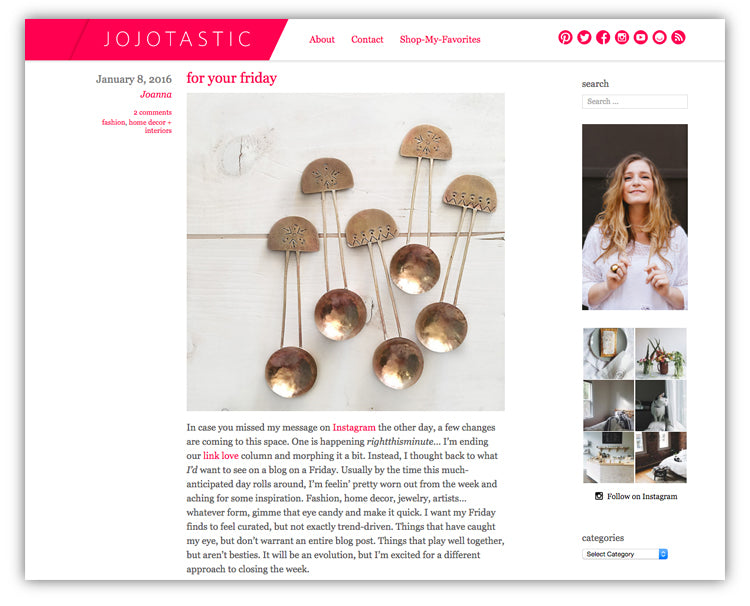 Meus on jojotastic blog