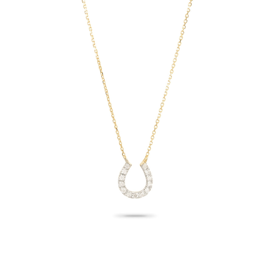 ADINA REYTER PAVE HORSESHOE NECKLACE