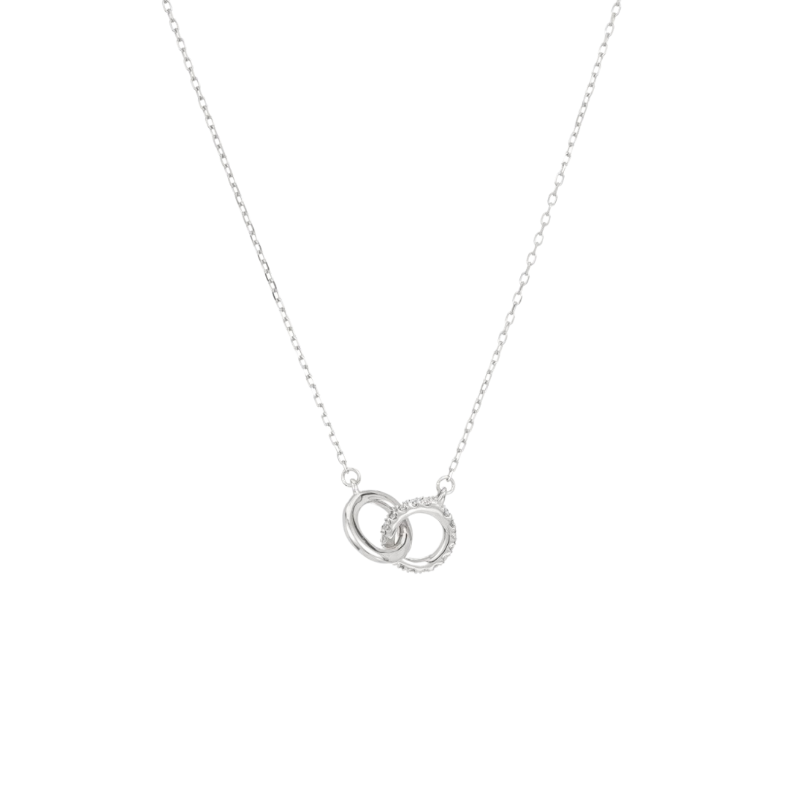 Adina Reyter Interlocking Loop Necklace Silver