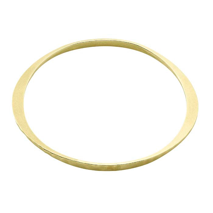 STACKING BRASS HAMMERED BANGLES