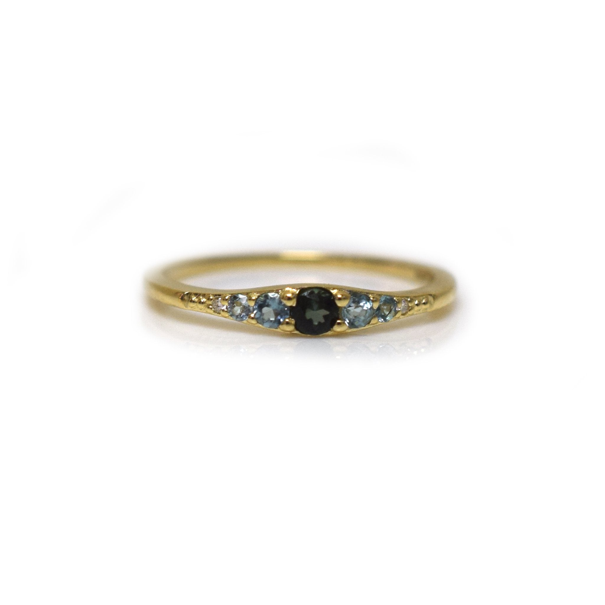 La Kaiser 14kt Gold Blue Tourmaline Ella Vie Ring