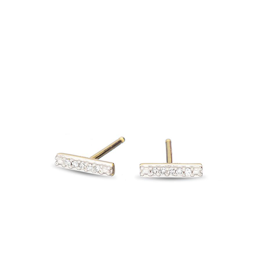 ADINA REYTER SUPER TINY PAVE BAR POST