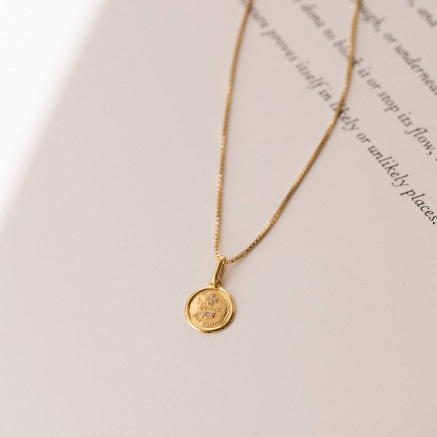 Leah Alexandra Love Token Necklace - Round