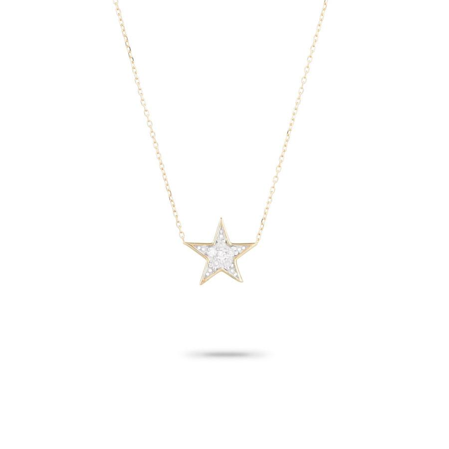 ADINA REYTER SOLID PAVE STAR NECKLACE