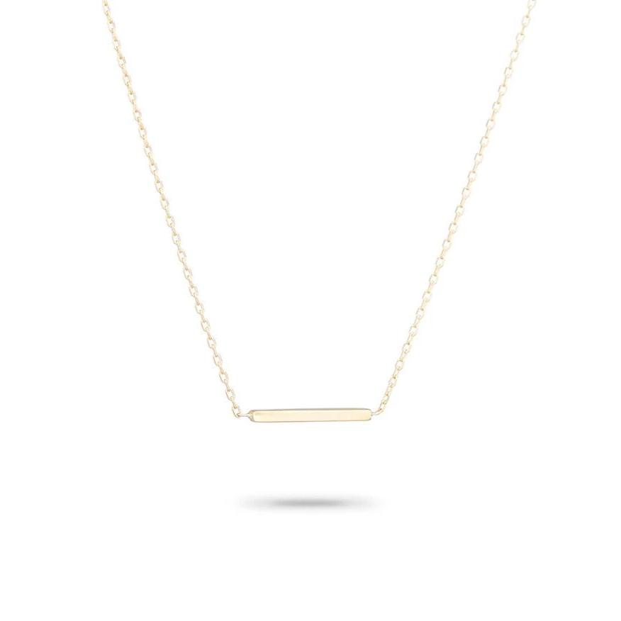 ADINA REYTER TINY BAR NECKLACE