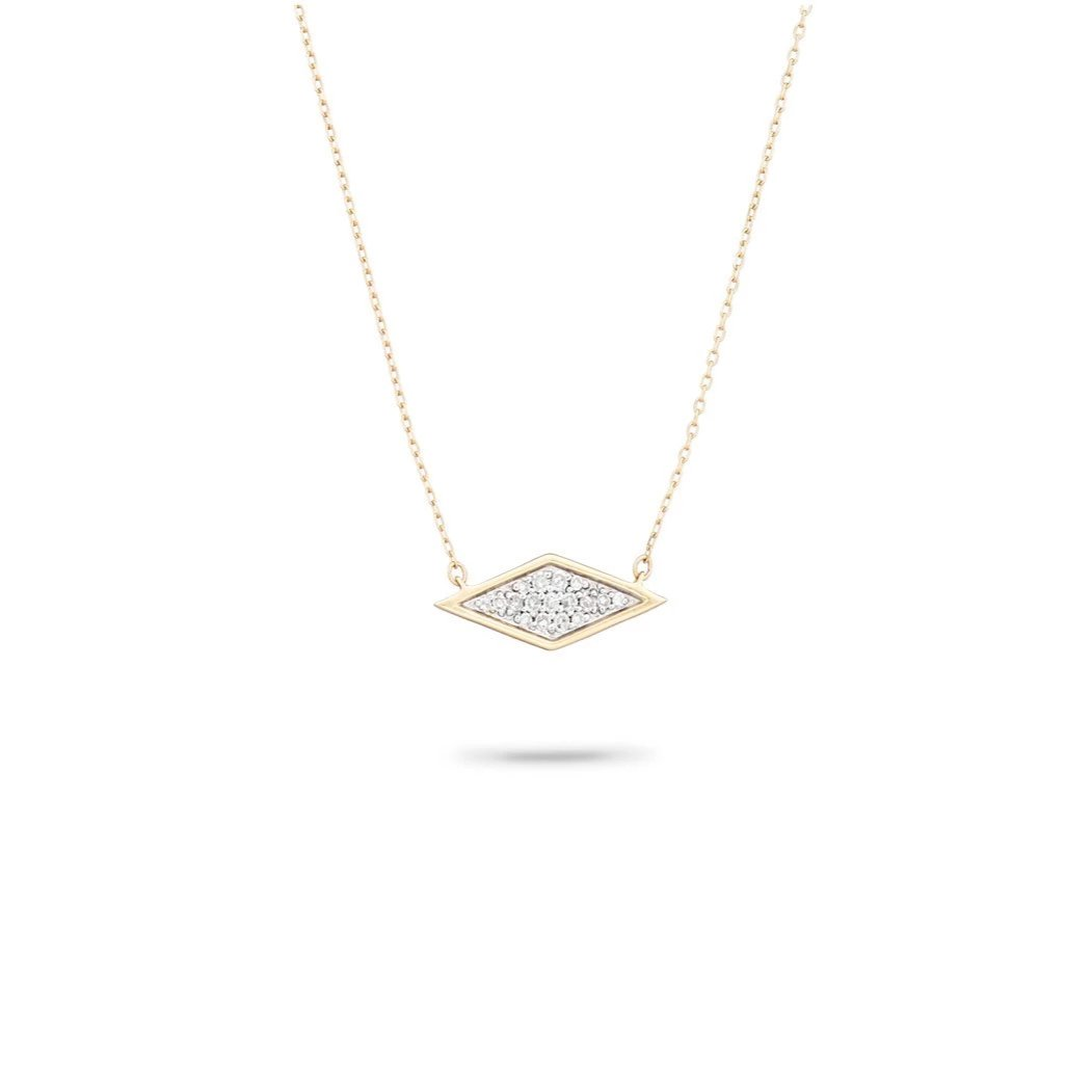 Adina Reyter Tiny Solid Pavé Diamond Necklace