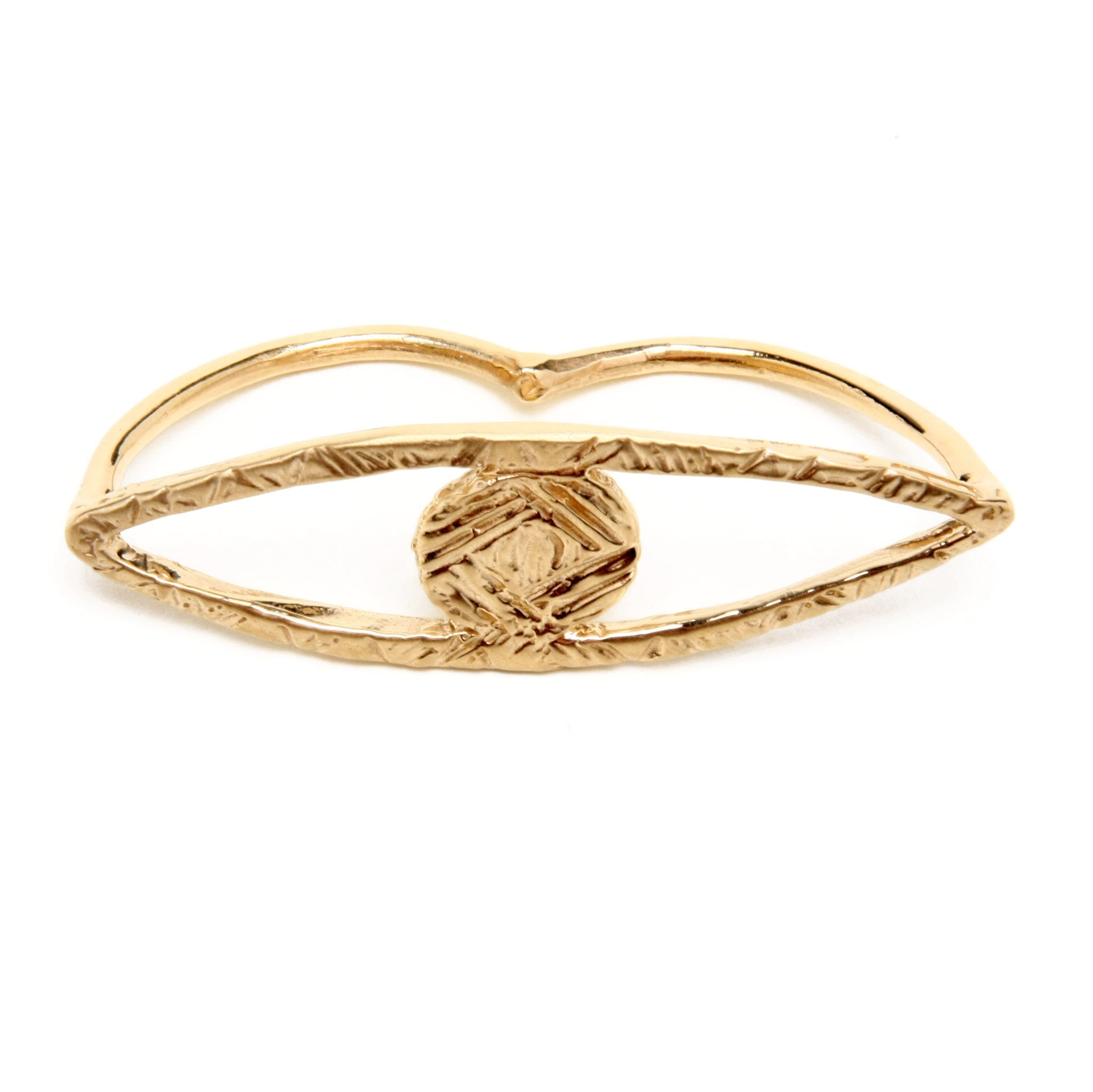ODETTE NEW YORK OJOS DOUBLE FINGER RING