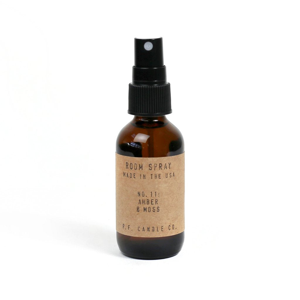 P.F. CANDLE CO. ROOM SPRAY AMBER & MOSS