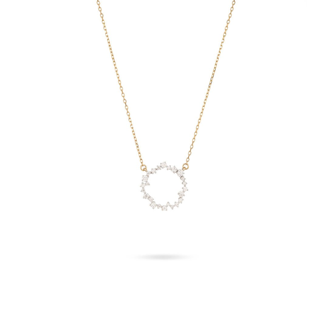 ADINA REYTER SMALL SCATTERED DIAMOND CIRCLE NECKLACE