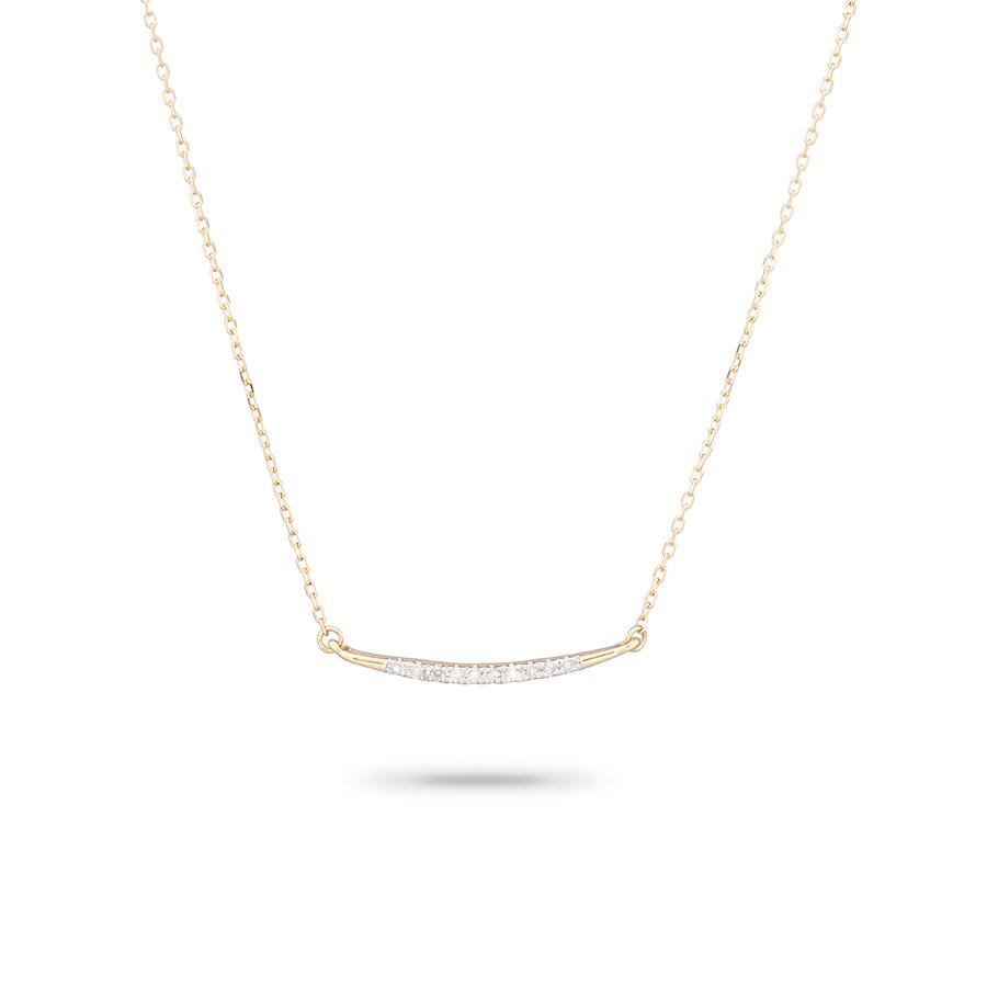 ADINA REYTER SMALL PAVE CURVE NECKLACE