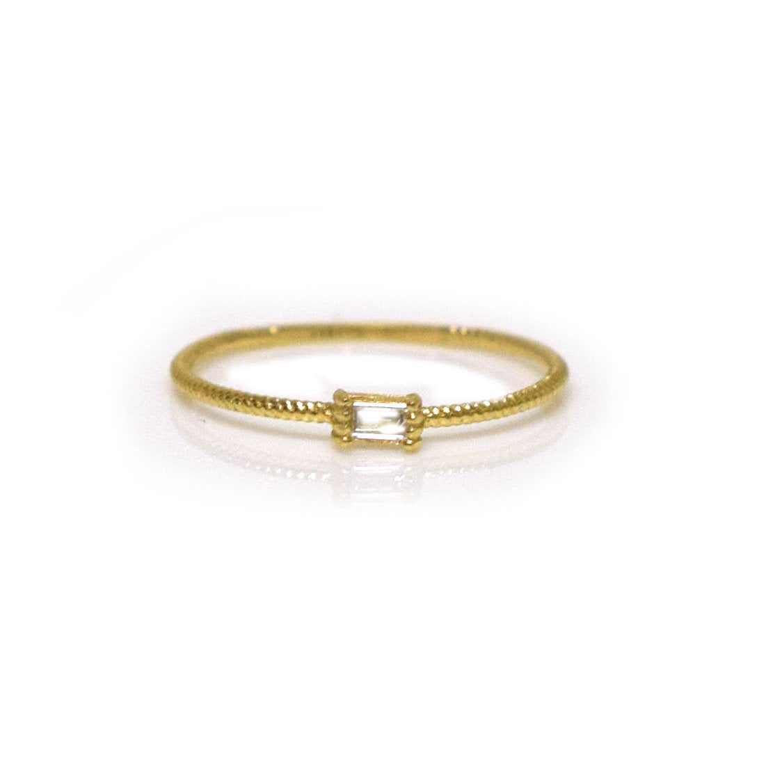 La Kaiser 14kt Diamond Golden Grace Twist Ring